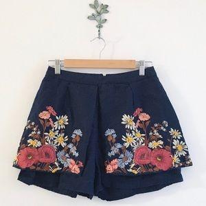 Anthro. Elevenses Wind Garden Culottes Size 4